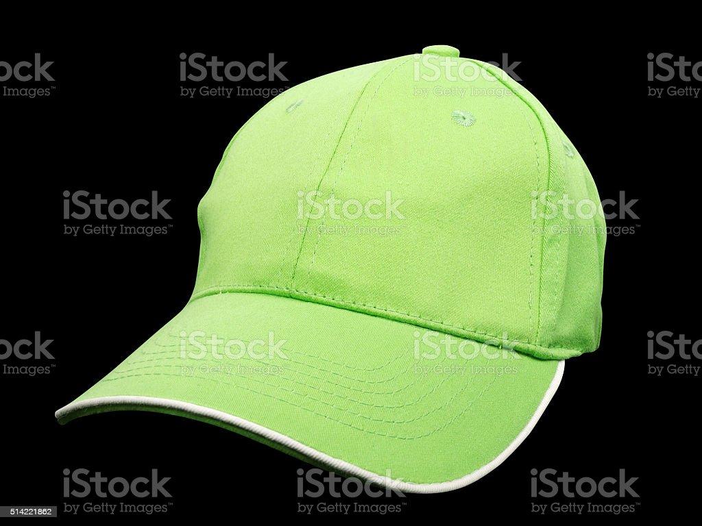 Green baseball cap stock photo