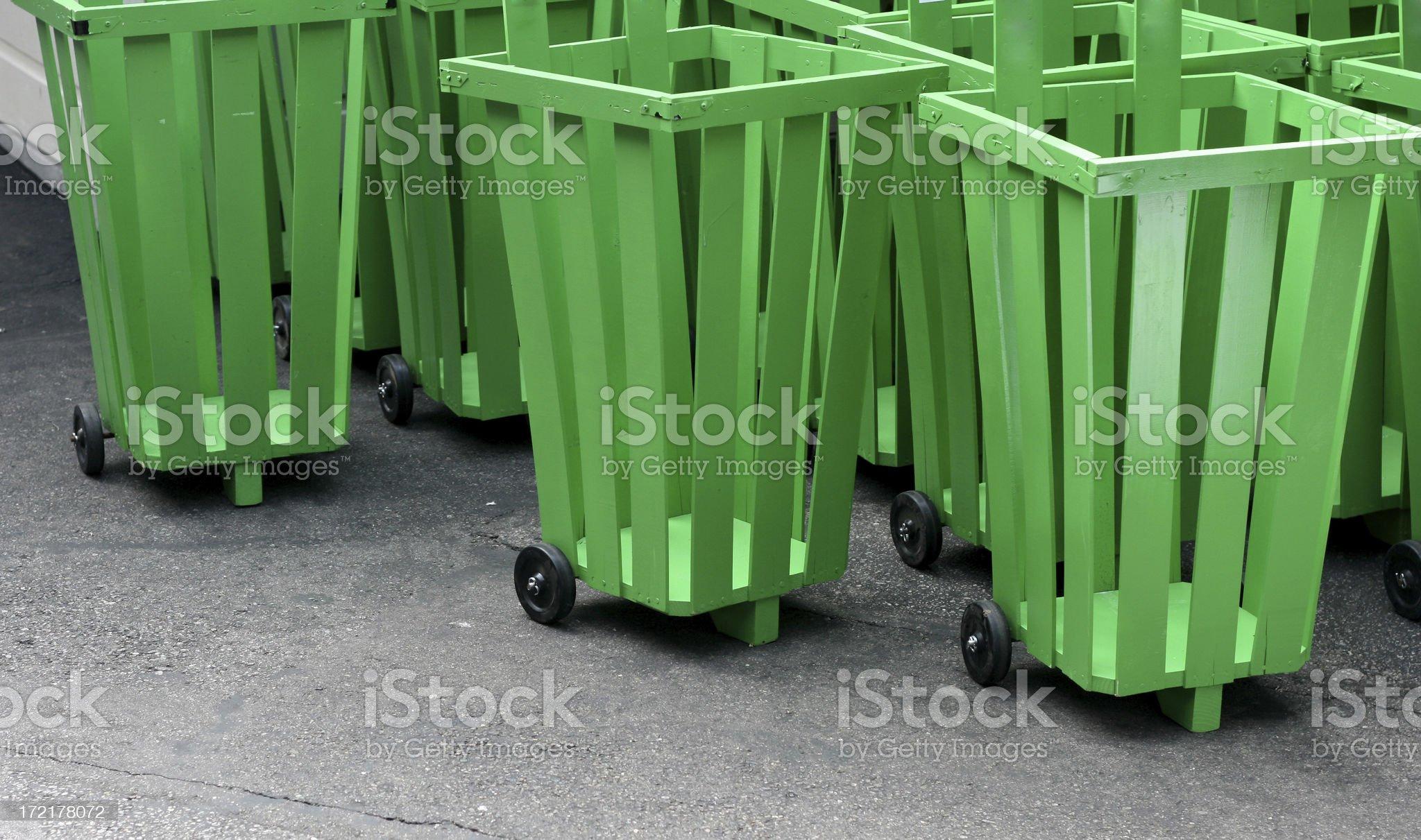 Green baskets royalty-free stock photo