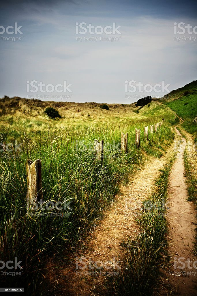 Green Beach Road in England royalty-free stock photo
