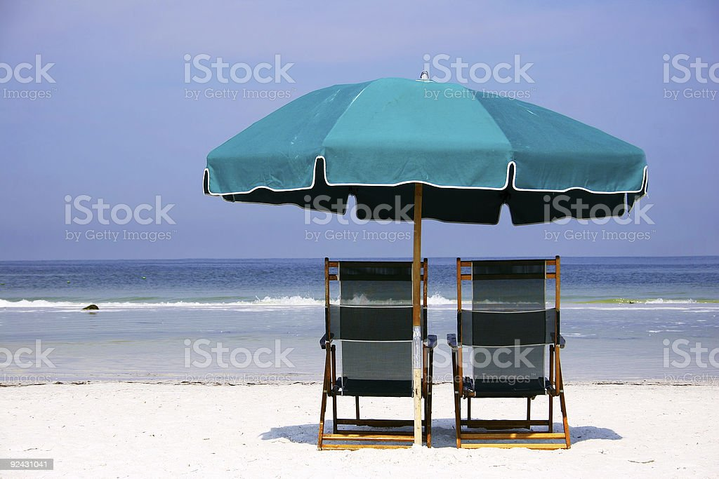 Green Beach Scene royalty-free stock photo