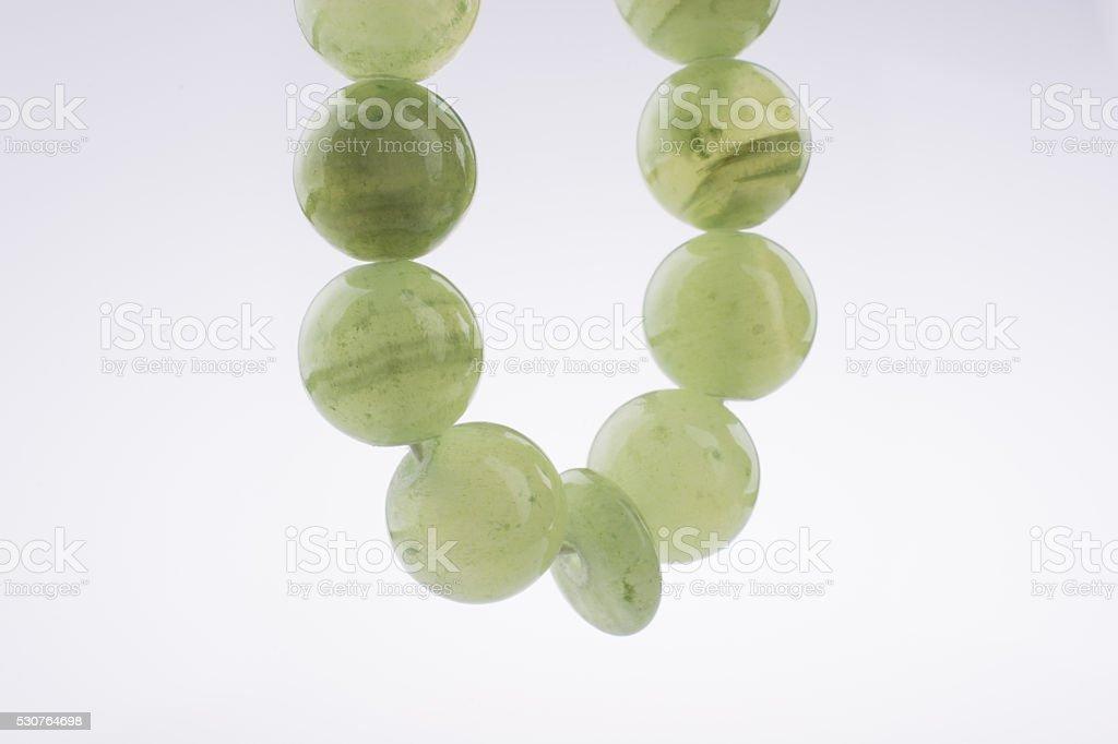 Green beads stock photo