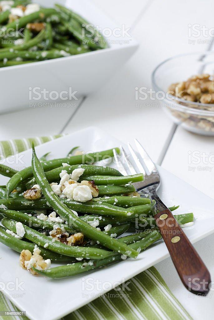 Green Bean and Feta Salad stock photo