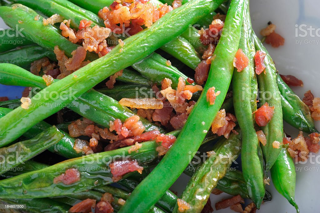 Green Beans and Bacon royalty-free stock photo