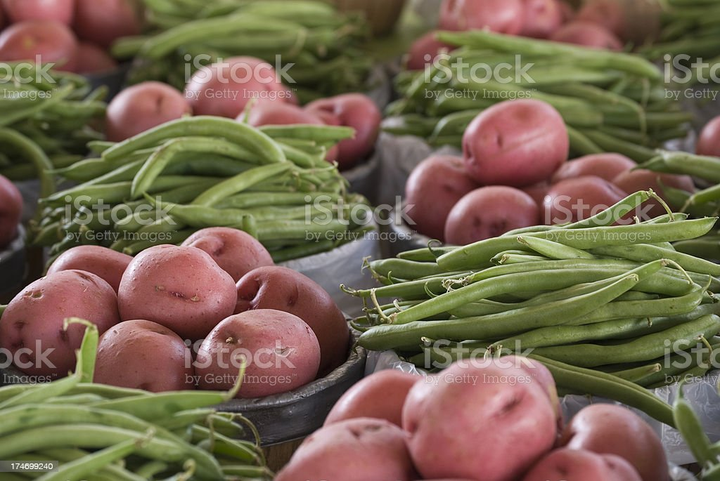 Green Beans and Potatoes royalty-free stock photo