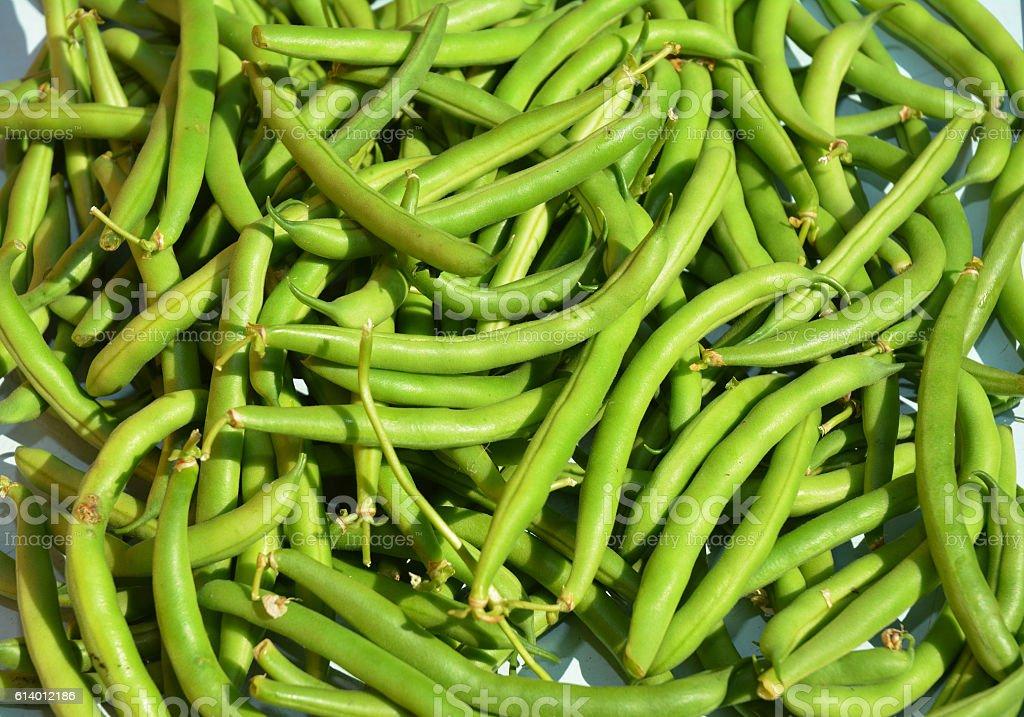 Green beans casserole. Vegan Food. stock photo