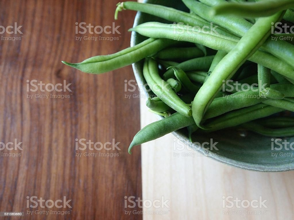 Green Beans in a Bowl stock photo