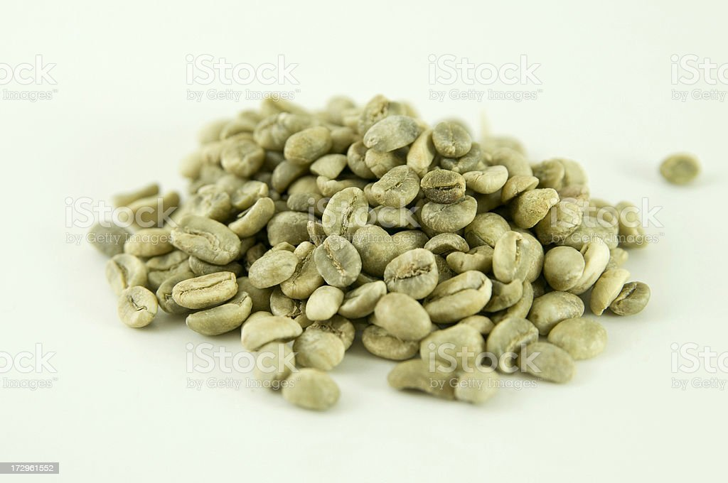 Green Beans (Coffee) royalty-free stock photo