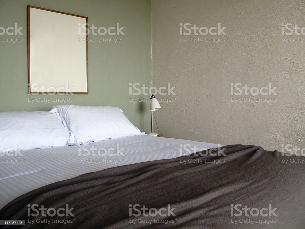 green Bedroom royalty-free stock photo