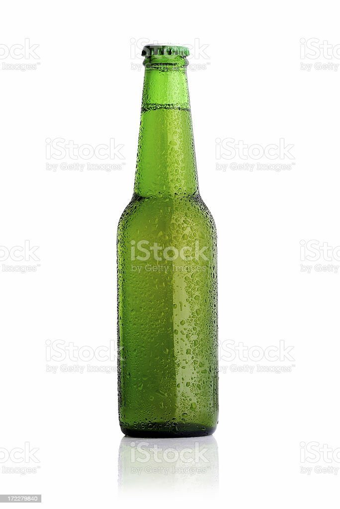 green beer bootle royalty-free stock photo