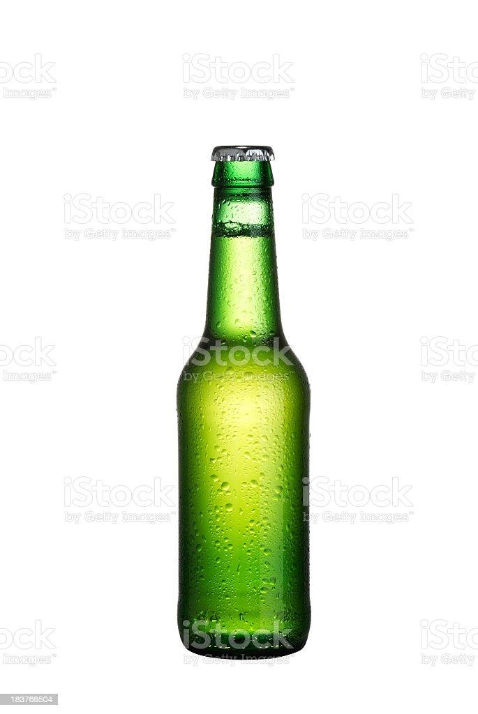 Green Beer Bottle stock photo