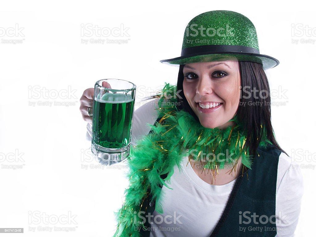Green Beer Cheers stock photo