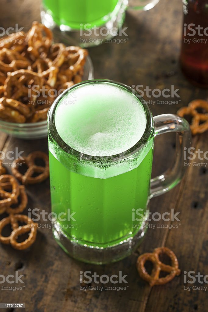 Green Beer for St. Patrick's Day stock photo