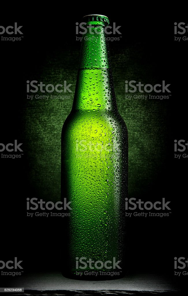 Green beer on black stock photo
