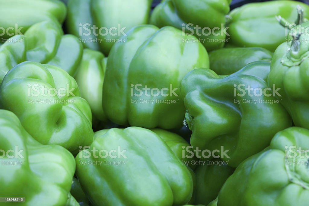 Green Bell Peppers royalty-free stock photo
