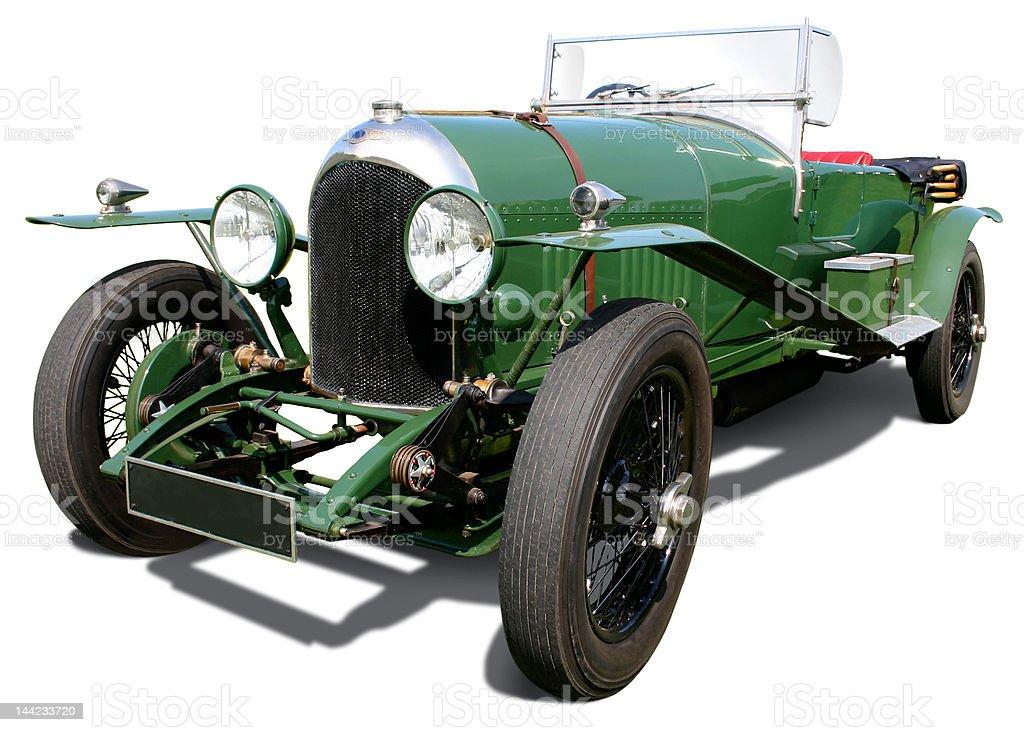 Green Bentley TT stock photo