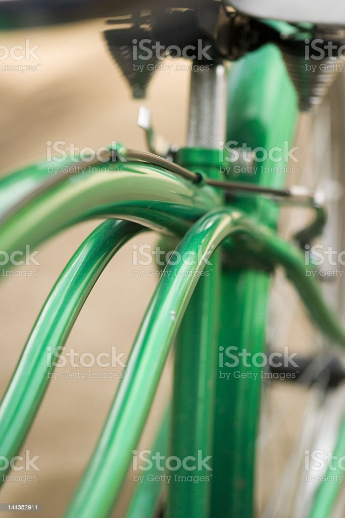Green bike royalty-free stock photo