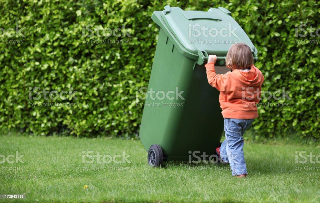 green bin royalty-free stock photo