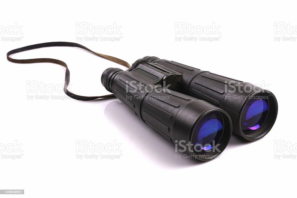 green binoculars royalty-free stock photo