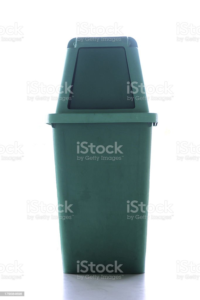 Green bins with lid. stock photo