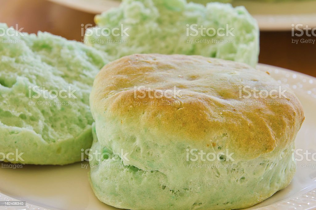 Green Biscuit with Brown Top royalty-free stock photo