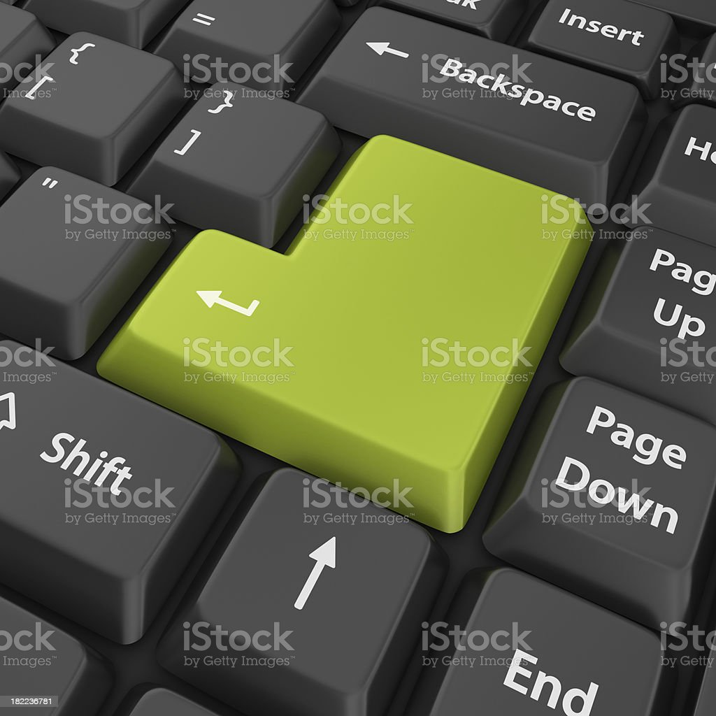 green blank enter button stock photo