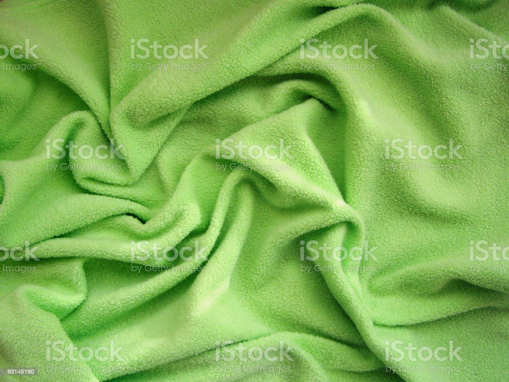 Green blanket stock photo