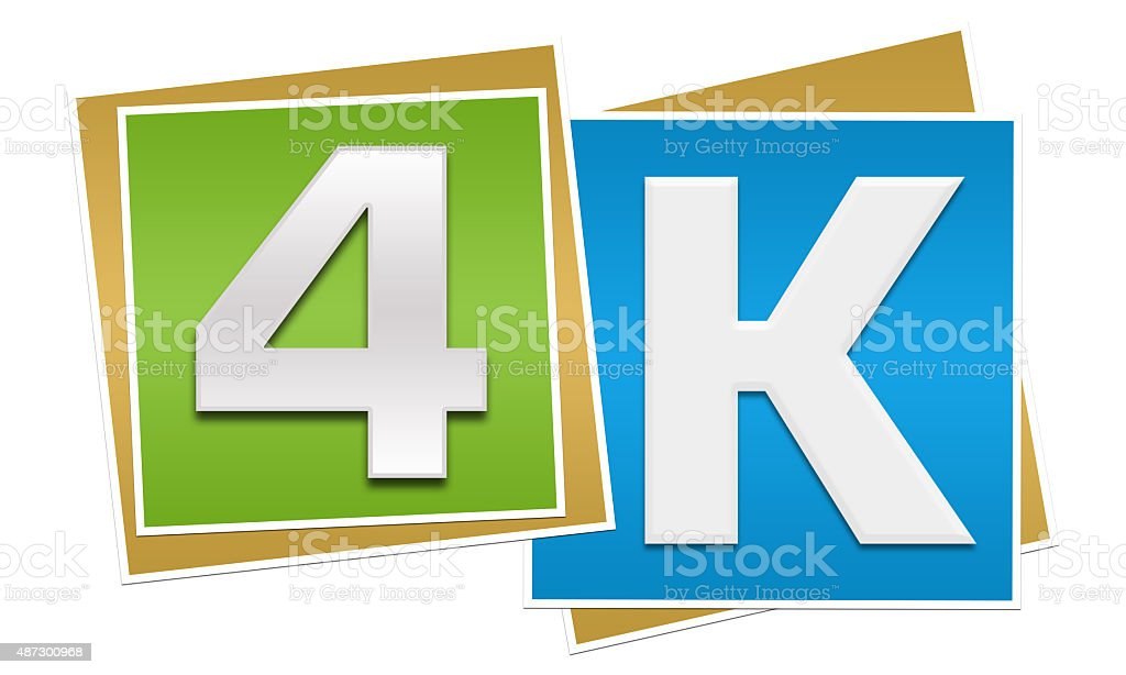 4K Green Blue Blocks stock photo