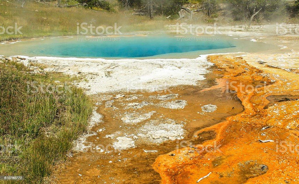 green blue & orange stock photo