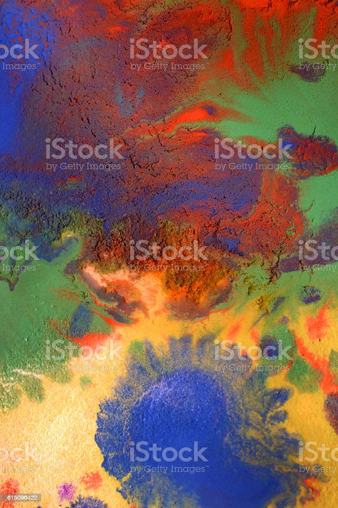 green blue red yellow mixed stock photo