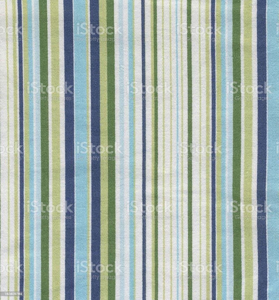 Green & Blue Striped Fabric stock photo