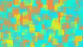 green blue yellow and orange square pattern