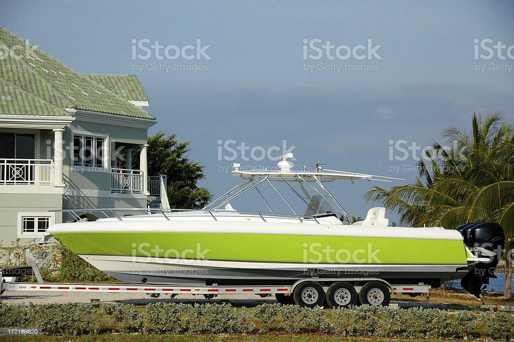 Green Boat II royalty-free stock photo