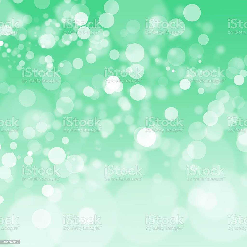 green bokeh abstract light background. Vector illustration stock photo