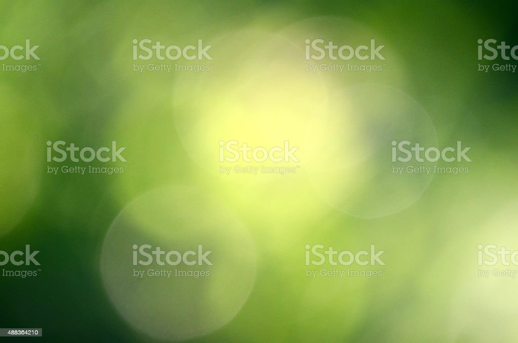 Green bokeh background stock photo