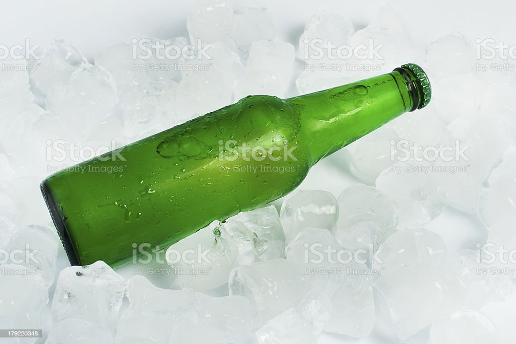 Green Bottle of beer royalty-free stock photo