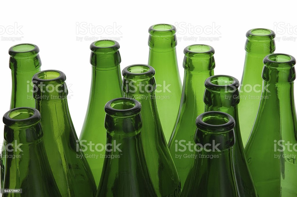 Green bottles royalty-free stock photo