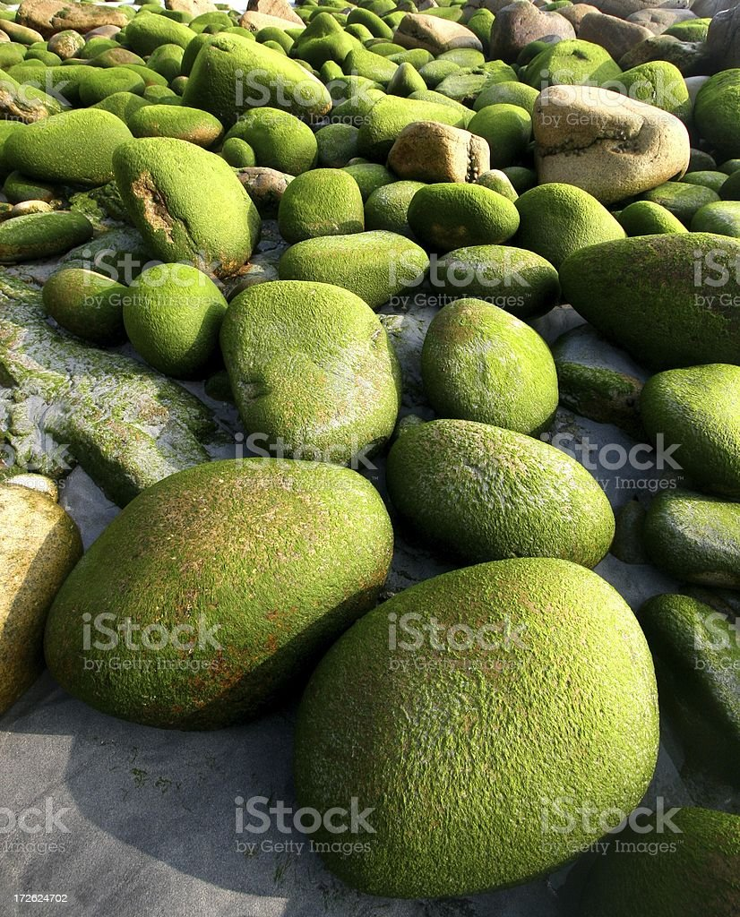 Green Boulders royalty-free stock photo