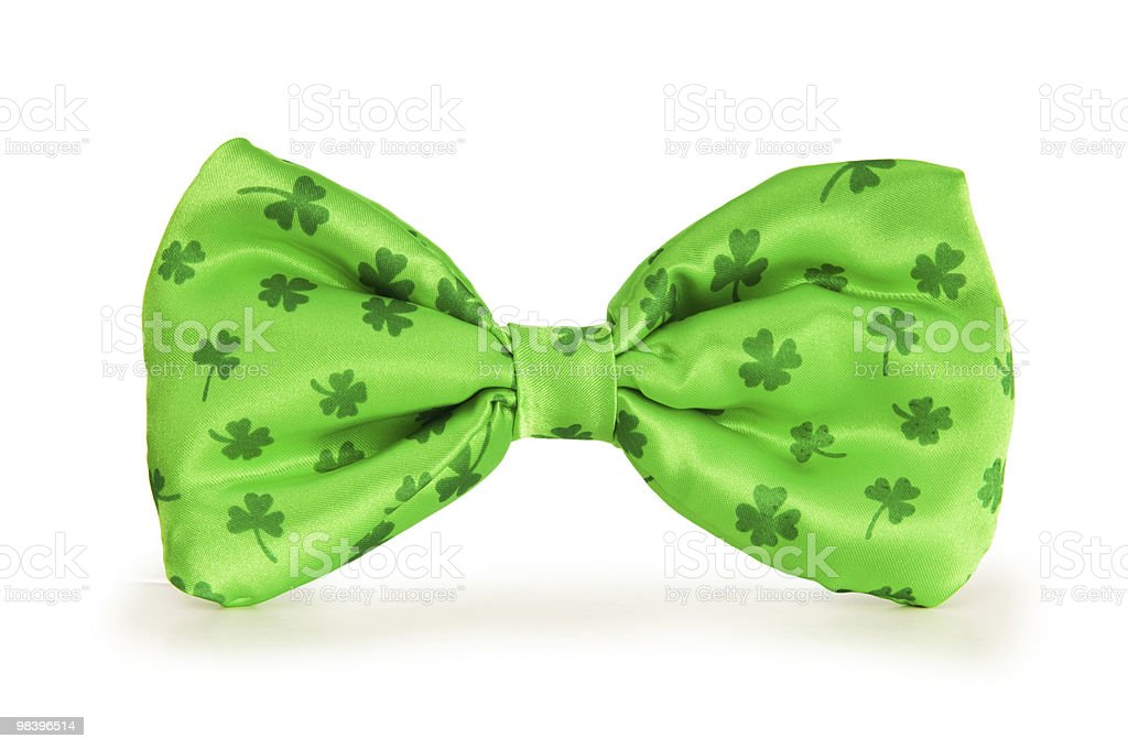 Green bow tie as a concept for St Patrick day royalty-free stock photo