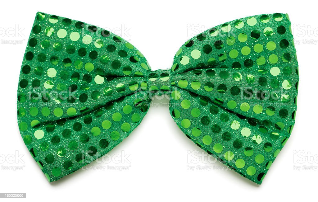 Green bow tie stock photo