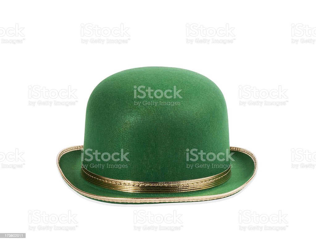 Green Bowler Hat stock photo