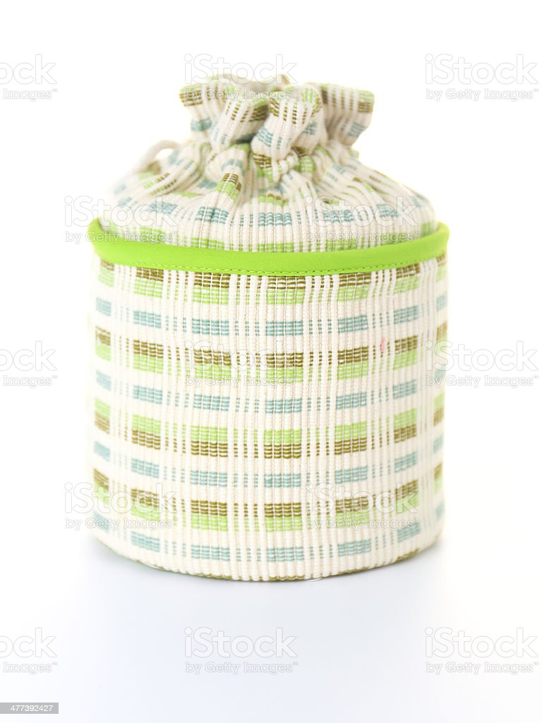 Green Box of Tissues on White Background royalty-free stock photo