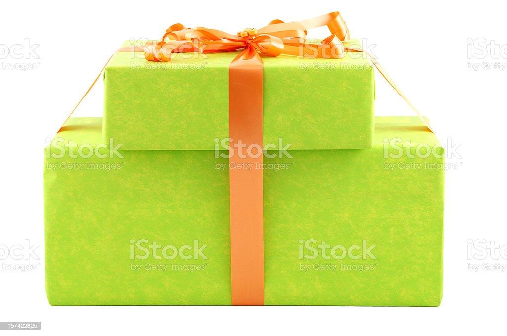 Green boxes royalty-free stock photo