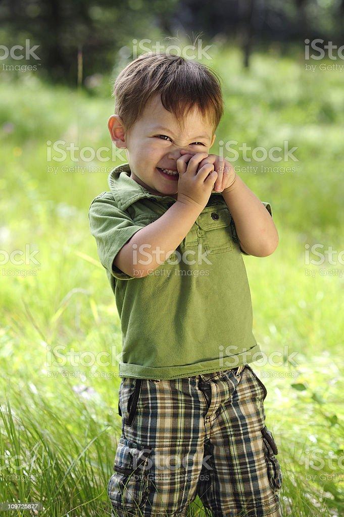 Green Boy royalty-free stock photo