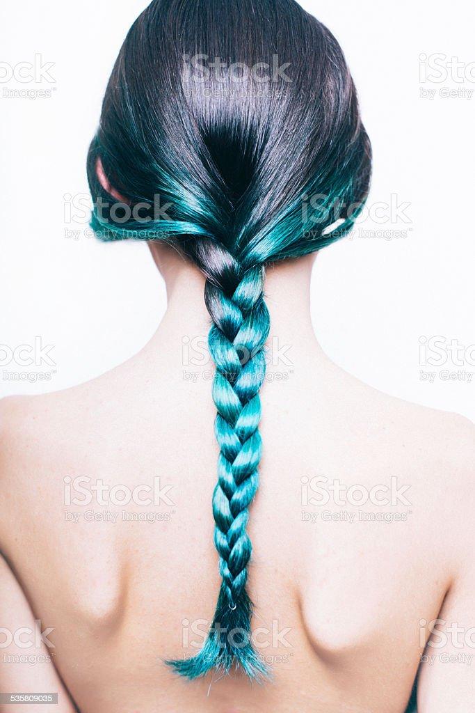 Green braid stock photo