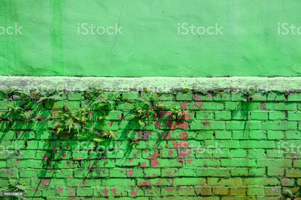 green brick abstract texture background close up stock photo