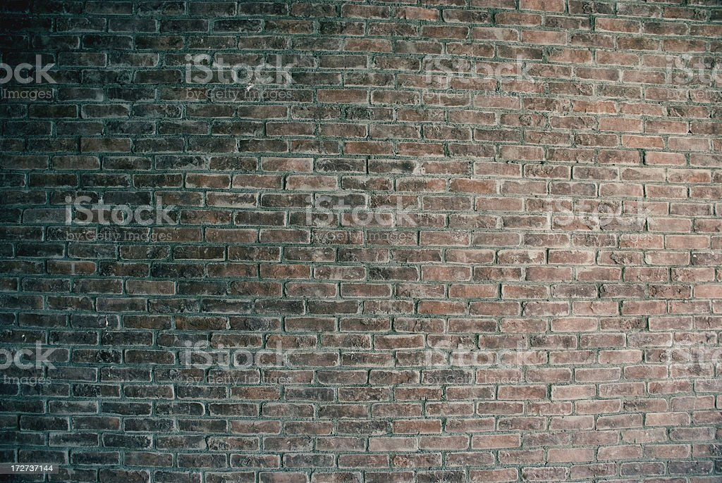 Green Brick Wall royalty-free stock photo