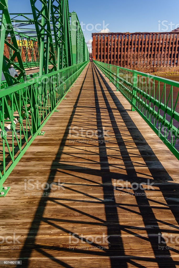green bridge 1 stock photo