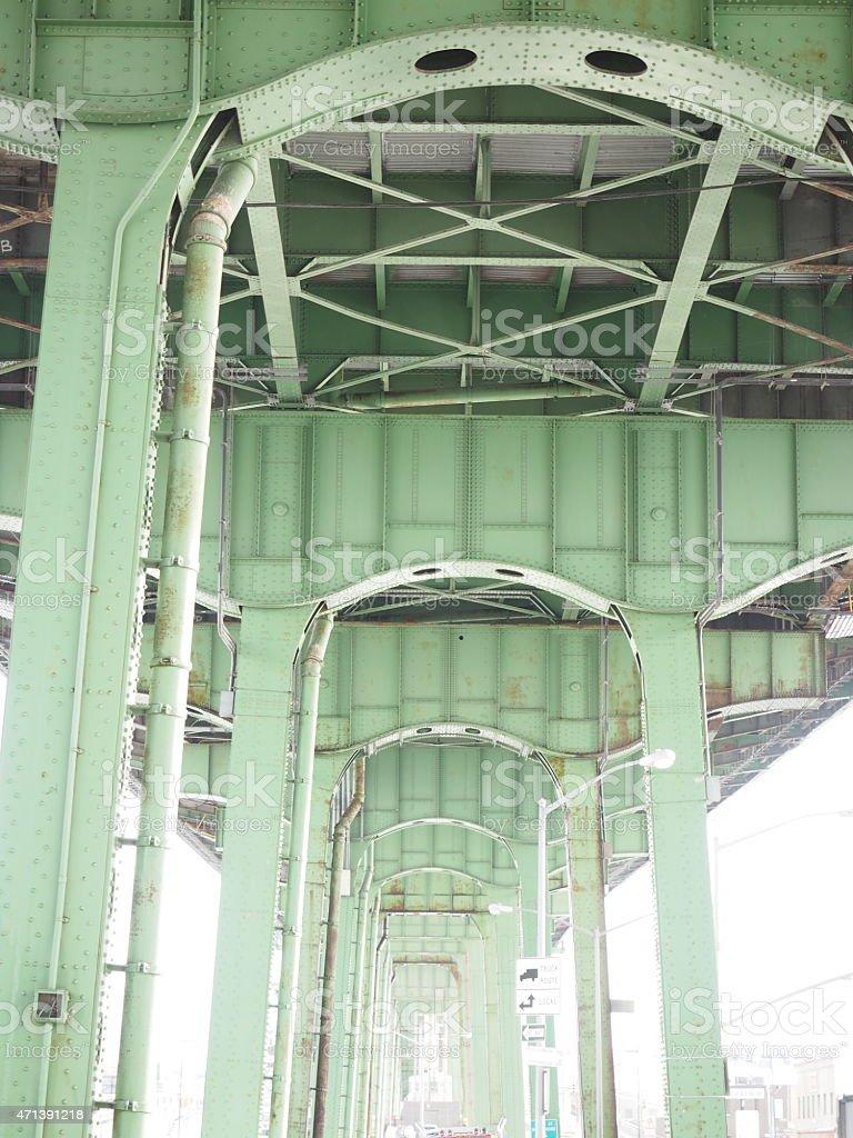 Pont vert Structure photo libre de droits