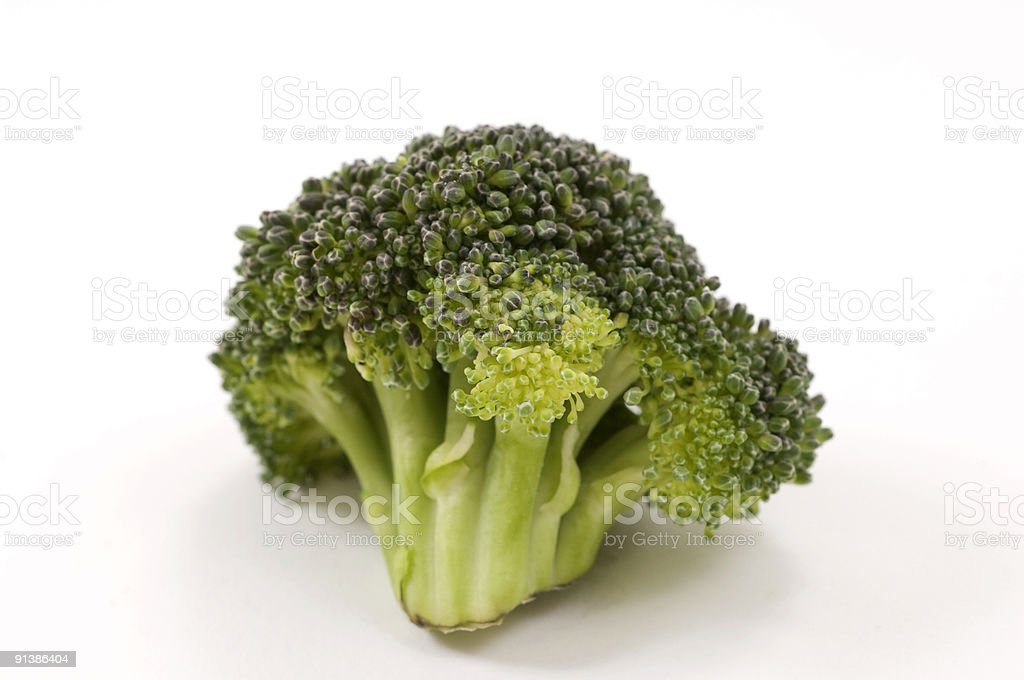 Green broccoli closeup stock photo