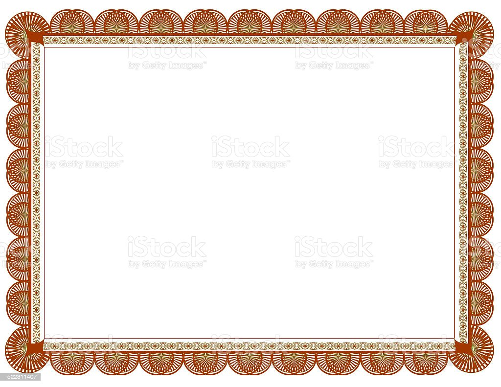 green brown document frame 85 x 11 royalty free stock photo